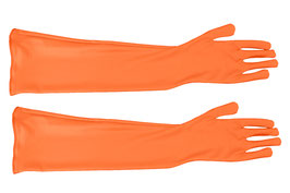Lange Handschuhe orange