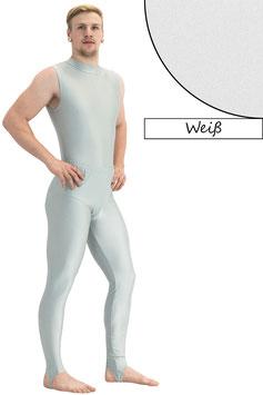 Herren Leggings mit Steg weiß