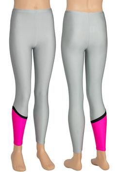 "Kinder Leggings ""Nina"" schwarz-pink-silber"