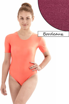 Damen Body kurze Ärmel bordeaux