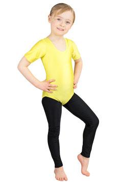 Kinder Gymnastikanzug kurze Ärmel gelb