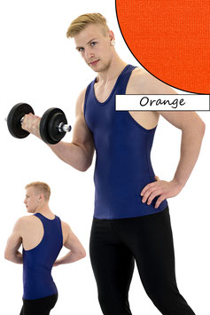 Herren Boxerhemd orange