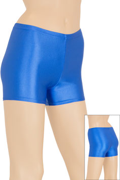 Damen Wetlook Hotpant royalblau