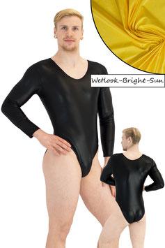 Herren Wetlook Body lange Ärmel bright-sun
