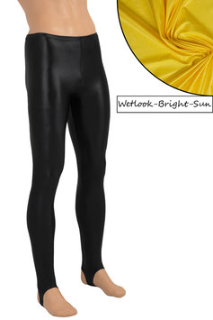 Herren Wetlook Leggings mit Steg bright-sun