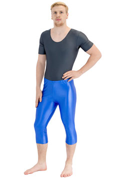 Herren Wetlook Caprihose royalblau