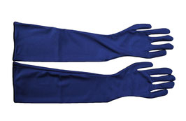 Lange Handschuhe marine