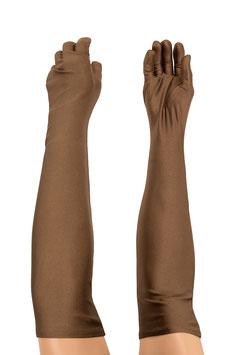 Lange Handschuhe braun