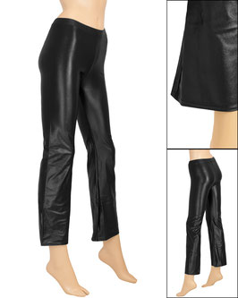 Damen Wetlook Jazzpant schwarz