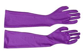 Lange Handschuhe lila