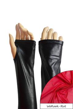 Wetlook fingerlose Handschuhe mit Daumenloch rot