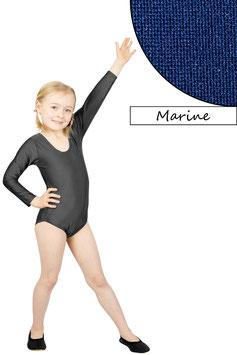 Kinder Gymnastikanzug lange Ärmel dunkelblau