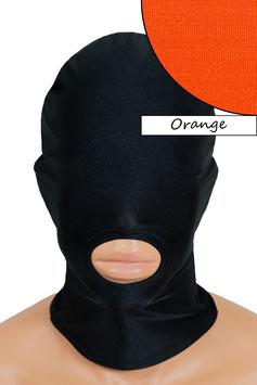 Kopfhaube (Maske) orange, Mund offen