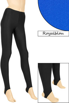 Kinder Leggings mit Steg royalblau