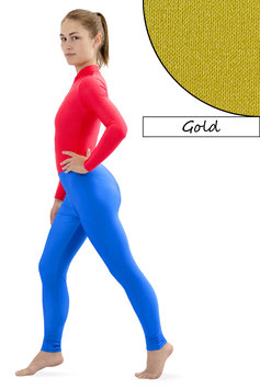 Damen Leggings gold