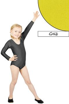 Kinder Gymnastikanzug lange Ärmel gelb