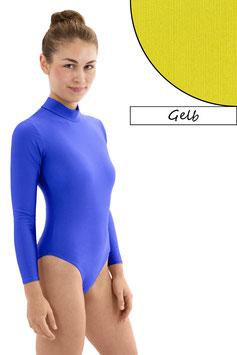 Damen Body lange Ärmel RRV gelb