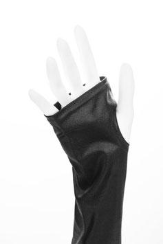 Wetlook fingerlose Handschuhe mit Daumenloch schwarz