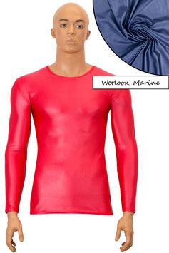 Herren Wetlook T-Shirt lange Ärmel marine