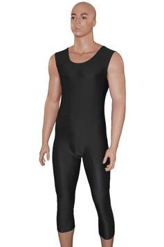 Herren Ganzanzug mit 3/4 Beinen ohne Ärmel schwarz