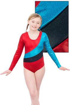 """Holo Kinder Gymnastikanzug """"Diana"""" rot-türkis-schwarz"""