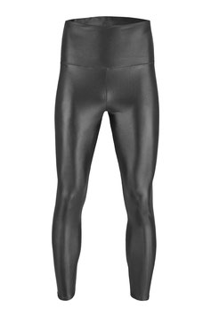 Herren Wetlook High-Waist Leggings anthrazit