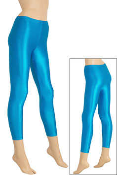 Damen Wetlook Leggings türkis