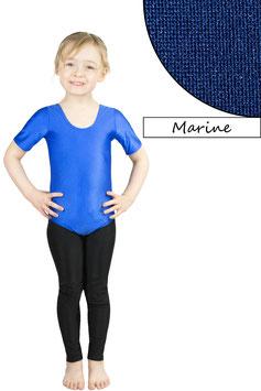 Kinder Gymnastikanzug kurze Ärmel dunkelblau