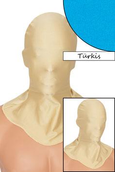 Kopfhaube geschlossen türkis