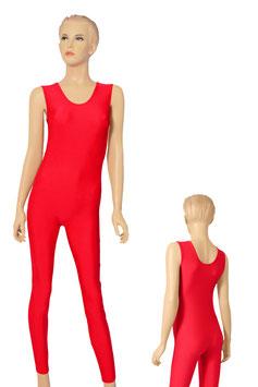 Damen Ganzanzug ohne Ärmel Rundhals rot