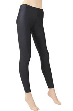 Damen Leggings mit Schritt-RV schwarz