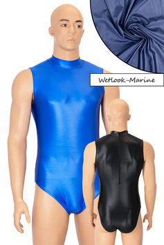 Herren Wetlook Body ohne Ärmel Rücken-RV marine