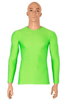 Herren Longsleeve T-Shirt Slim-Fit neongrün