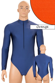 Herren Stringbody FRV lange Ärmel orange