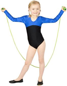 "Kinder Gymnastikanzug ""Gina"" royalblau (oben) - schwarz"