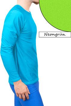 Herren Longsleeve T-Shirt Comfort Fit neongrün