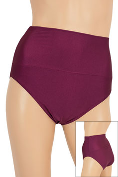 Damen High-Waist Slip bordeaux
