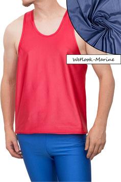 Herren Wetlook Boxerhemd Comfort Fit marine