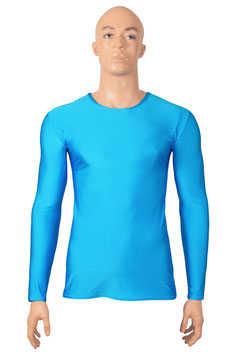 Herren Longsleeve T-Shirt Slim-Fit türkis