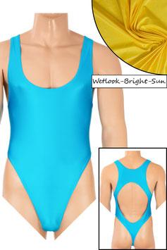 Herren Wetlook Stringbody Boxerschnitt und freier Rücken bright-sun