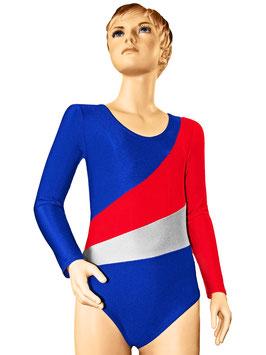 "Kinder Gymnastikanzug ""Diana"" royalblau-rot-silber"