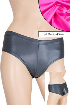 Damen Wetlook Panty pink
