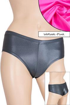 Damen Wetlook Panty pink