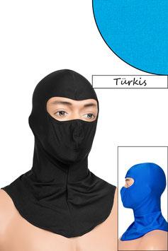 Sturmhaube Augen offen türkis