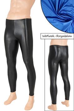 Herren Wetlook Leggings royalblau