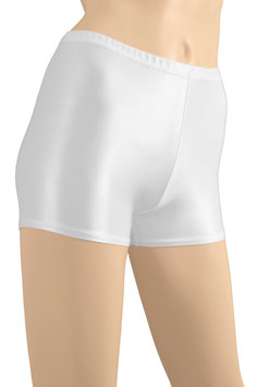 Damen Wetlook Hotpant weiß