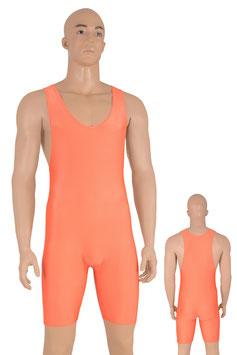 Herren Fitnessganzanzug Radlerbeine Boxerschnitt orange