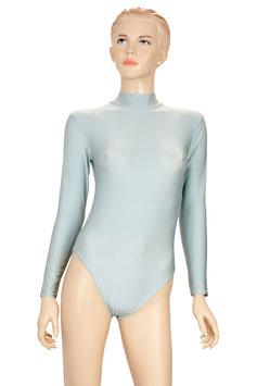 Damen Body lange Ärmel RRV silber