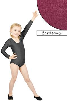 Kinder Gymnastikanzug lange Ärmel bordeaux