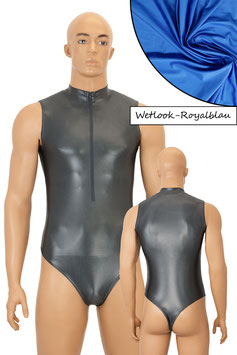 Herren Wetlook Stringbody ohne Ärmel FRV royalblau